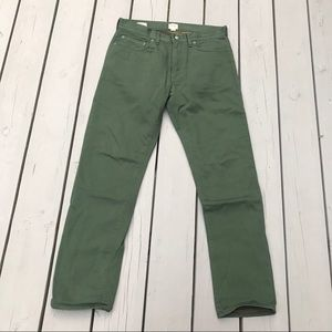 JCREW Camo Lined Green 770 Straight Fit Chino